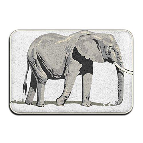 Desconocido Elefante paseos Lonely África suave Felpudo–Felpudo de entrada (Floor Mat Alfombra para interiores/exteriores/puerta delantera/baño alfombrillas de goma antideslizante