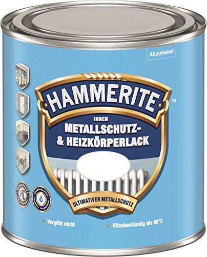 Hammerite Innen Metallschutz- und Heizkörperlack ,Reinweiss RAL 9010 Matt 0,5L
