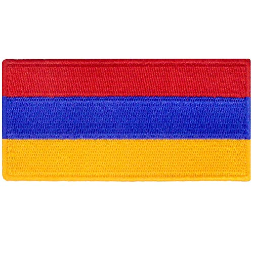 Armenien Flagge Armenisch Nationales Emblem Bestickter Aufnäher zum Aufbügeln/Annähen