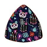 Posavasos triangulares para bebidas, diseño de gato morado, México, Helloween de cuero, para proteger muebles, resistente al calor, decoración de bar de cocina, juego de 6