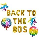 JeVenis 5 Pezzi Torna agli Anni '80 Palloncino Banner Anni '80 Palloncino retrò Anni '80 Decorazioni per Feste Anni '80 Articoli per Feste Anni '80 Partito a Tema Anni '80 Hip Hop Party Anni