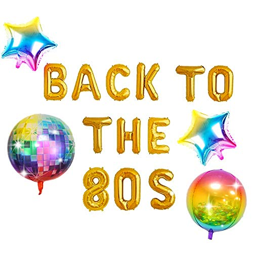 Back to the 80's Party Balloon Set. This 5 piece set will be a big hit with your guests.