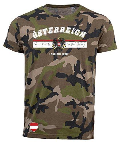 aprom T-Shirt Österreich Austria Camouflage Army NC D03 (L)