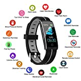 Fitness Tracker, Smart Watch with Heart Rate Blood Pressure Sleep Monitor for iOS Android, Slim Waterproof Fitness Tracker with Call Message Reminder, Heart Rate Alarm Fitness Watch for Men Women