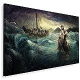 Muralo Cuadro en lienzo de 120 x 80 cm, diseño de Jesús milagros Apostel con agua