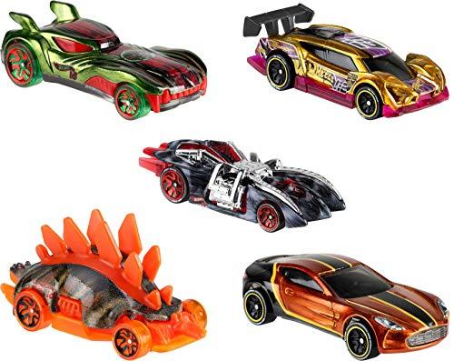 Hot Wheels iD 5er-Set - Die-Cast Fahrzeuge 1:64 mit NFC-Chip zum Scannen in der Hot Wheels iD App, Auto Spielzeug ab 8 Jahren
