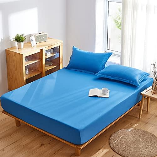 Haya Sábana bajera – Extensible, transpirable y suave – Copas 30 cm para colchón grueso, 200 x 220 cm + 15 cm