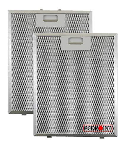 Kit 2 Stück Aluminium-Fettfilter Austauschfilter Dunstabzugshaube Für BEST mm.239 x 298 x 9