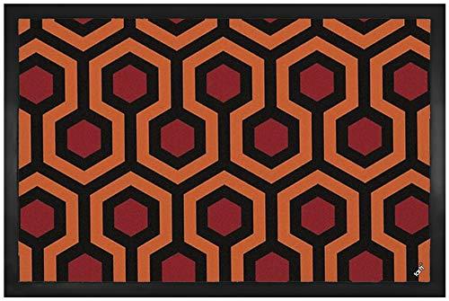 1art1 Dessins Paillasson Essuie-Pieds - Dessin de Tapis Shining Rétro (60 x 40 cm)