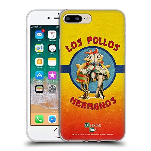 Head Case Designs Licenza Ufficiale Breaking Bad Los Pollos Hermanos Grunge Iconico Cover in Morbido Gel Compatibile con Apple iPhone 7 Plus/iPhone 8 Plus