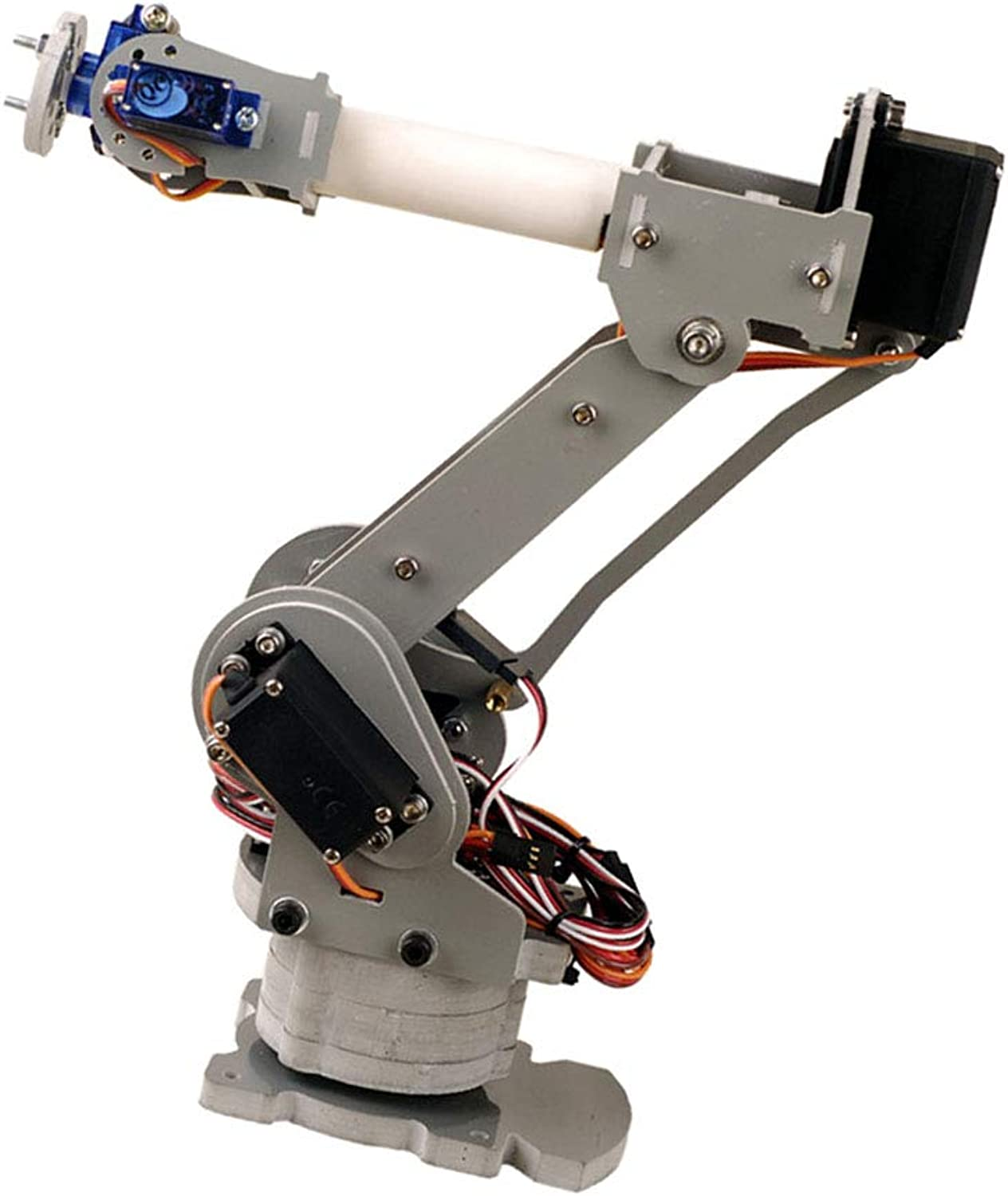FLAMEER 6 Degree of Freedom Acrylic Robot Arm Claw Edge Kit with Metal Gears MG-996R servo+Arduino controller
