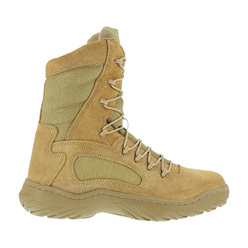 Reebok Womens Desert Tan Leather Tactical Boots Fusion Max 8in Military 6 M