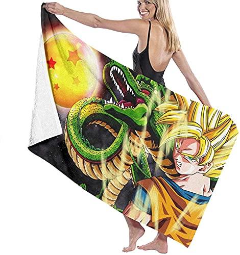 EA-SDN Dragon Ball - Toalla de playa XXL para mujer, toalla de playa grande para hombre, con impresión 3D, Anime, sauna, superabsorbente, suave (Dragon Ball 11,80 x 160 cm)