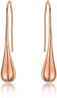Italina Women's Earrings Thread Drop Teardrop Dangle Back Hoop Jewelry Earrings for Women Girls Fashion Party Meeting
