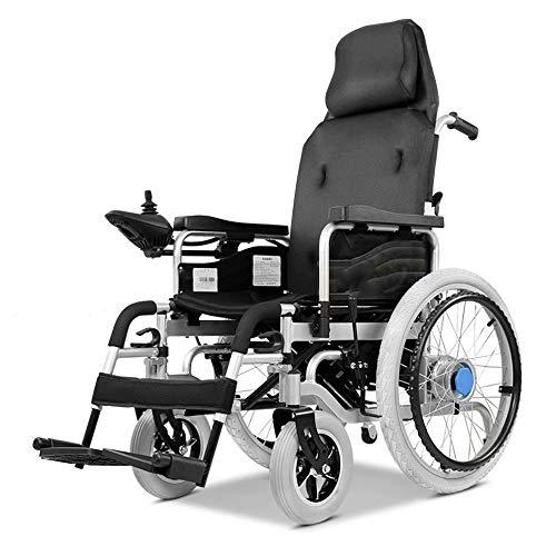 electric wheelchair Elektrorollstuhl, Elektroantrieb oder als manueller Rollstuhl, Rollstuhl mit hoher Rückenlehne, Sitzbreite: 43 cm, Gewicht 100 kg