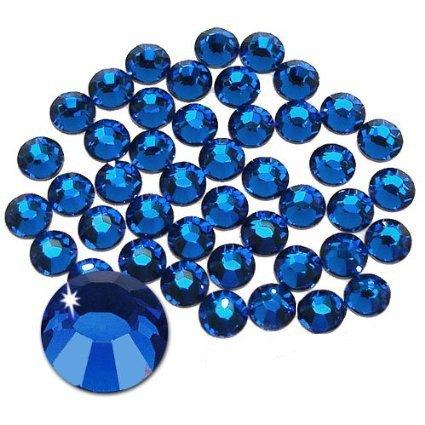 Jollin Flatback Strass Vetro Cristallo Artificiale Gemme Nail Art Diamante Non-Termoadesivi, ss20 576pcs, Sapphire