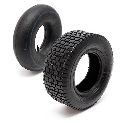 Reifen für den Aufsitzmäher 15x6.00-6 4pr mit Schlauch und geradem Ventil Komplettrad Rasentraktor