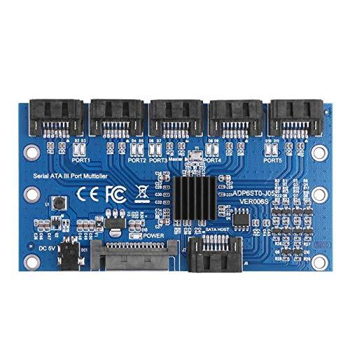 ACAMPTAR Controller Karte Motherboard Sata Erweiterungs Karte 1 Bis 5 Anschluss Sata3.0 6 Gbit/S Multiplier Sata Anschluss Riser Karten Adapter Für Computer