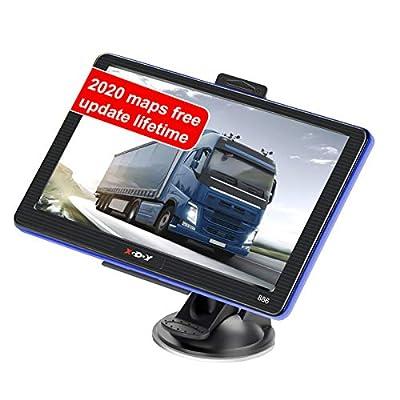 7 inch Truck GPS xgody 886 Trucking GPS Xgody GPS Navigation for car Navigation 8GB ROM SAT NAV System Navigator Driving Alarm Lifetime Map Updates Truck GPS Navigation System for Trucks