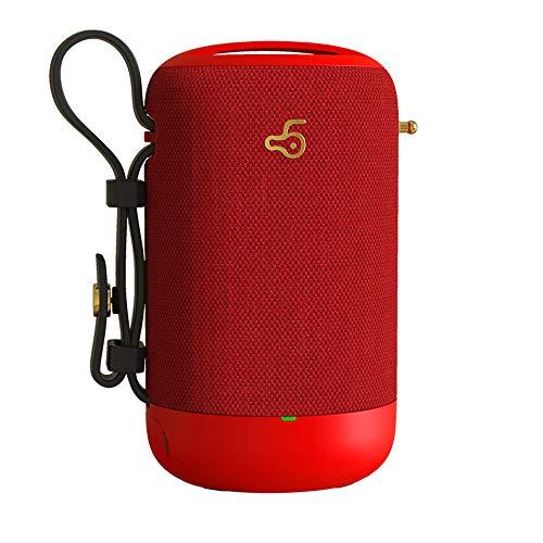 YUHUANG Bluetooth-Lautsprecher, wasserdichtes Plug-In tragbareBluetooth-Lautsprecher, Subwoofer, Auto Outdoor Home, schwarz, rot, grau und weiß,Red