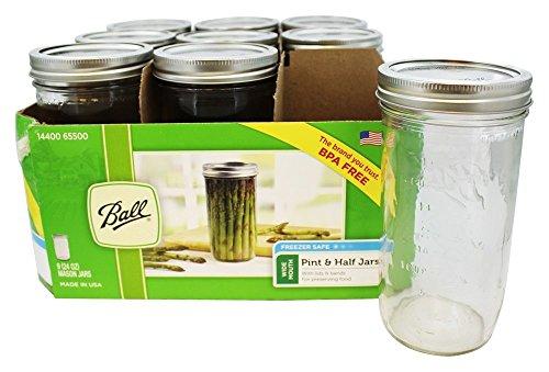 Ball Wide Mouth 24 Oz. Glass Mason Jars