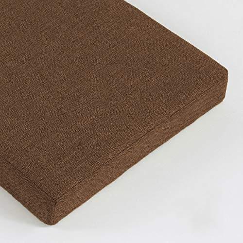 Cojín de banco de 2 y 3 plazas, cojín de asiento de jardín de 5 cm, cojín de banco de 100/120 cm de largo, cojín de asiento para comedor, interior y exterior (160 x 40 x 5 cm, marrón)