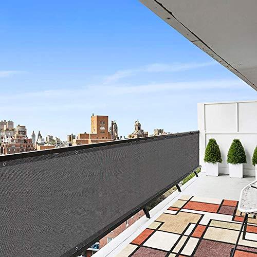 QAF Pantalla para Balcón Pantalla de privacidad Gris 95% Tasa de sombreado Red de sombreado de balcón para jardín al Aire Libre QAF210311(Color:Grey,Size:75 x 350cm)