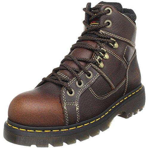 Dr. Martens - Men's Ironbridge Steel Toe Heavy Industry Boots, Teak, 6 M US