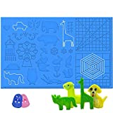 3D Printing Pen Silicone Design Mat with Patterns, Dikale 3D Pens Drawing Tools, Large size 16.4 x 10.9 inch