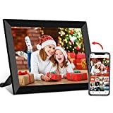 FRAMEO Digital Picture Frame WiFi 8 Inch IPS Touch Screen HD Display, Auto-Rotate, Wall-Mountable, Built-in 16GB Storage, Share Photos or Videos from Anywhere Smart Cloud Frames for Easy Navigation