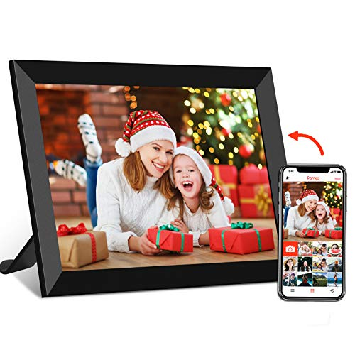 FRAMEO WiFi Digital Photo Frame 8 Inch 1280×800 IPS Touch Screen, Auto-Rotate, 16GB Storage, Share Photos or Videos from Anywhere Cloud Smart Frames for Easy Navigation