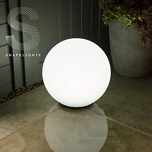 Shapelights Indoor & Outdoor USB Chargeable Solar Powered Colour Changing Mood Light - Sphere 35cm