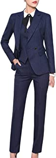 Women's Three Pieces Office Lady Blazer Business Suit Set Women Suits for Work Skirt/Pant,Vest and Jacket
