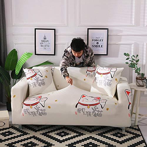 Antideslizante Protector Cubierta de Muebles 2 asientos, funda de sofá elástica para sala de estar con envoltura ajustada, sofá antideslizante con todo incluido, funda seccional, sofá-A 145-185CM
