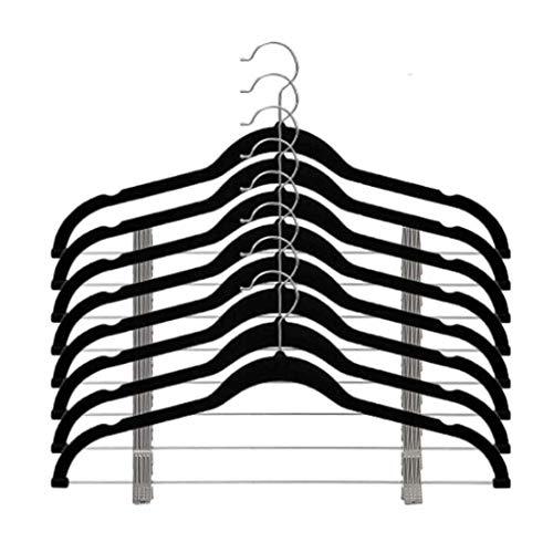 SHYPT 8pcs Velvet Clothes Hangers Premium Non-Slip Clothes Hangers with Clips for Dress Jackets Coats Clothes Pants