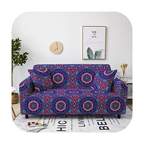 sofacover Bohemia Slipcovers Sectional Elastic Stretch Mandala Sofa Cover for Living Room Couch Cover Armchair Cover One/Two/Three Seat-Sf112-12-1-Seater 90-140Cm