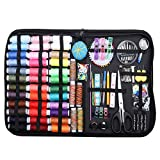 Godob 200 piezas de accesorios de costura portátiles Set de hilo de aguja kit antiarañazos duradero Sewing Case para adultos Home Repair DIY