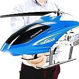 Haute Qualité Grand Hélicoptère RC 85cm, Télécommande Hélicoptère Avec Gyro Et Lumière LED 3.5-Channel Hélicoptère Jouet Avec Télécommande Extérieure Pour Enfants Et Adultes Anniversaire Cadeau De Noë
