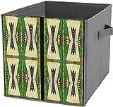 Caja de almacenamiento para debajo de la cama | Cubo de almacenamiento cuadrado plegable, organizador duradero, diseño de Cheyenne Parfleche
