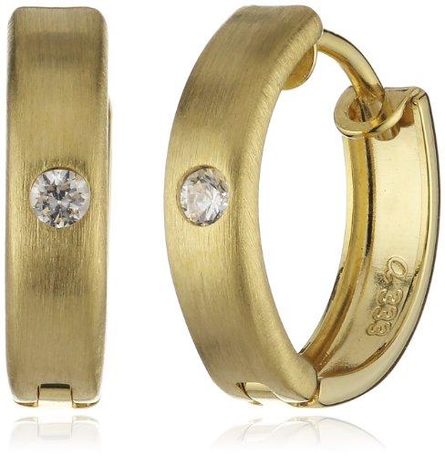 Amor Jewelry Damen-Creolen 8 Karat 333 Gelbgold 157803