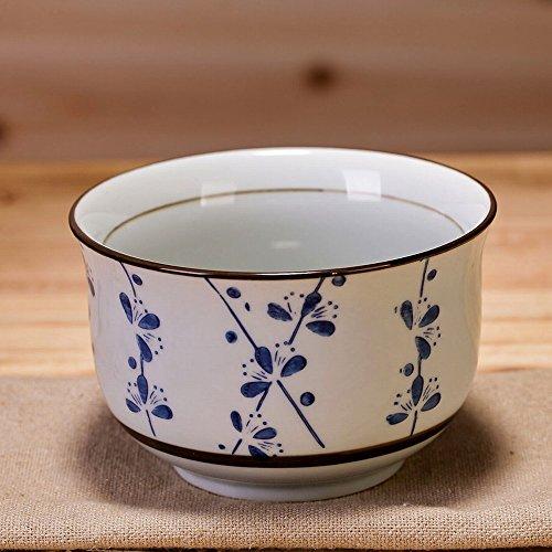 Ensemble de Couverts Bol en Céramique sous Glaçure de Style Japonais Bol à Riz Bol de Riz à la Maison Petit Bol à Soupe,UNE,4,5 pouces