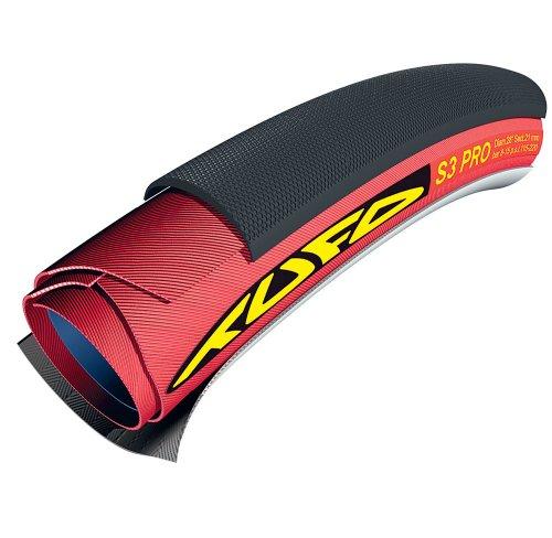 Tufo S3 Pro Cubierta Tubular, Rojo/Negro, 21mm 28'