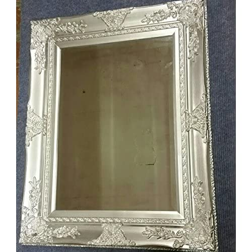 a4d80bd04069 UK s LARGE SILVER WALL MIRROR - NORMALLY £99.95 - French Baroque Antique Silver  Wall