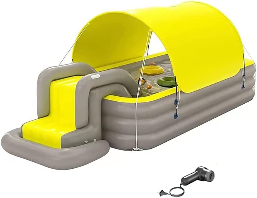 inflatable Large discharge sale pool with Water Slide Pool Inflat Under blast sales Free Swimming
