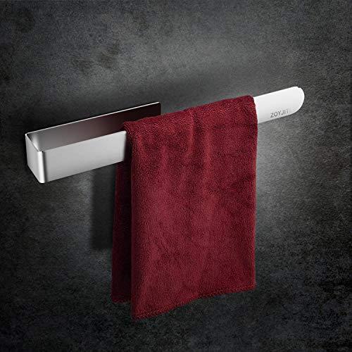 ZOYJITU Edelstahl Handtuchstange ohne Bohren, Handtuchring, Selbstklebend Handtuchring 38cm