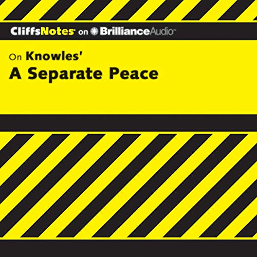 Page de couverture de A Separate Peace: CliffsNotes