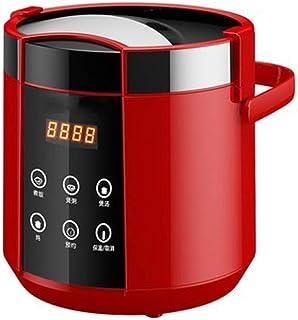 SHAAO 1.5L cuiseur à Riz électrique Mini 2 Couches cuiseur à Vapeur Multifonction Repas marmite de Cuisson Chauffage Rapid...