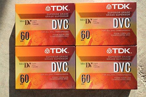 TDK 37140 Life on Record Mini DV Tape 60min Data Cartridge 4 Pack