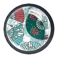 引き出しハンドルは、ホームキッチンドレッサーワードローブシームレスパターン伝統的なアジアのハンドペーパーのための丸いクリスタルガラスを引っ張る