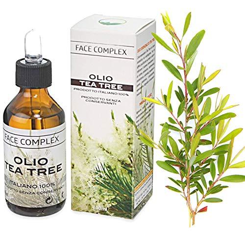 Aceite de Árbol de Té Verde Natural,100 ML Aceite Esencial, Tea Tree Oil Puro, Aceite Perfumado de Árbol de Té,Tratamiento para Cara con Imperfecciones.